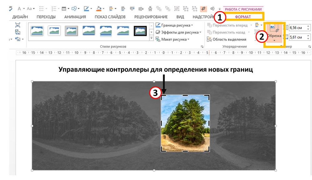 Обрезка фотографии для презентации